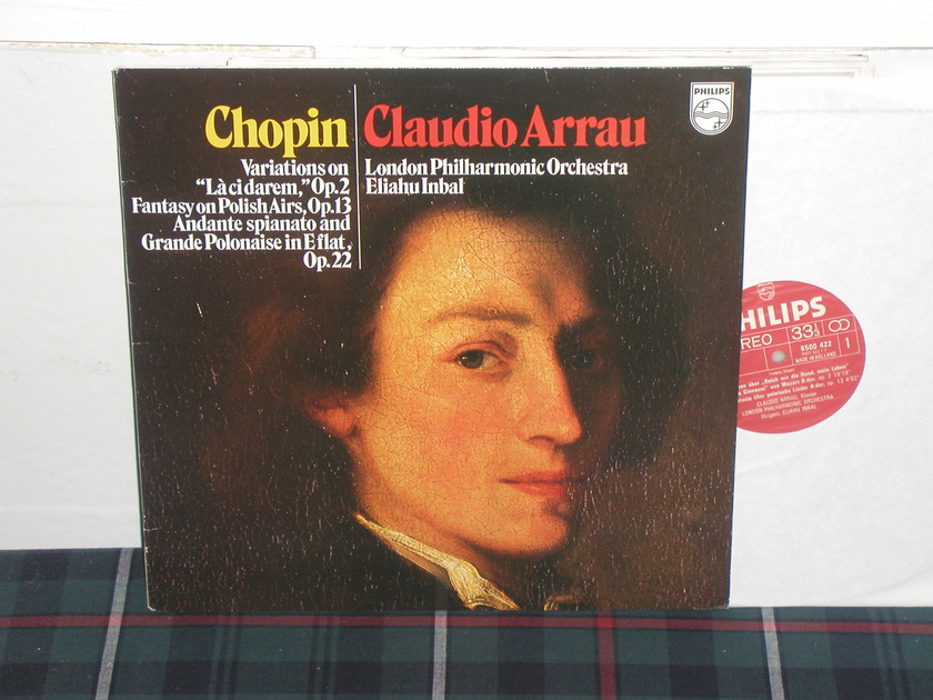 Arrau/Inbal/LPO - Chopin Variations Philips import pressing 6500 422