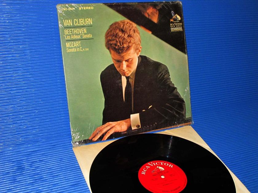 """BEETHOVEN / Cliburn  - """"Les Adieux Sonata"""" RCA 'White Dog' 1966 2S/2S"""