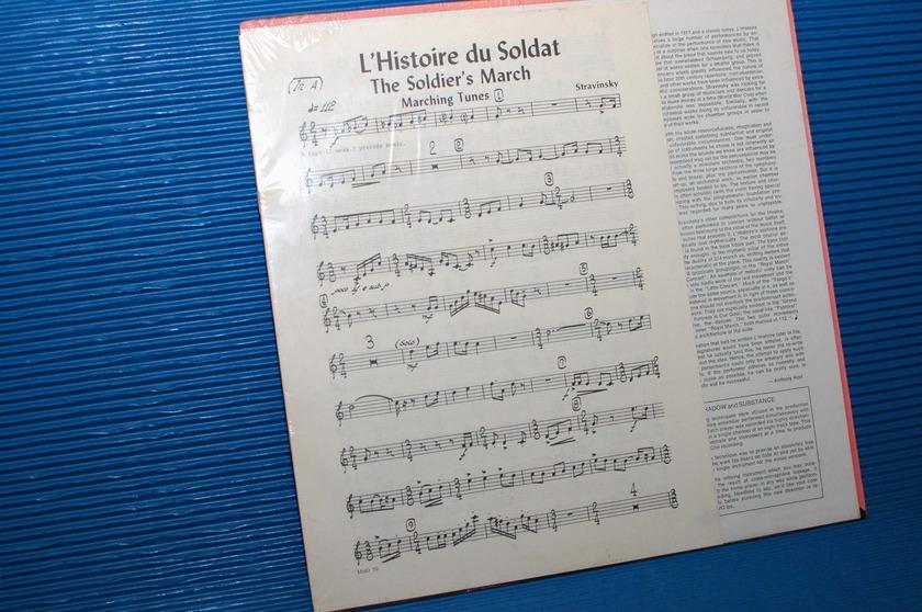 "STRAVINSKY / Parnassus   - ""L'Histoire du Soldat (Suite)"" -  Music Minus One SEALED"