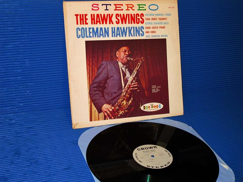"""COLEMAN HAWKINS  - """"The Hawk Swings"""" - Crown Records 1962"""