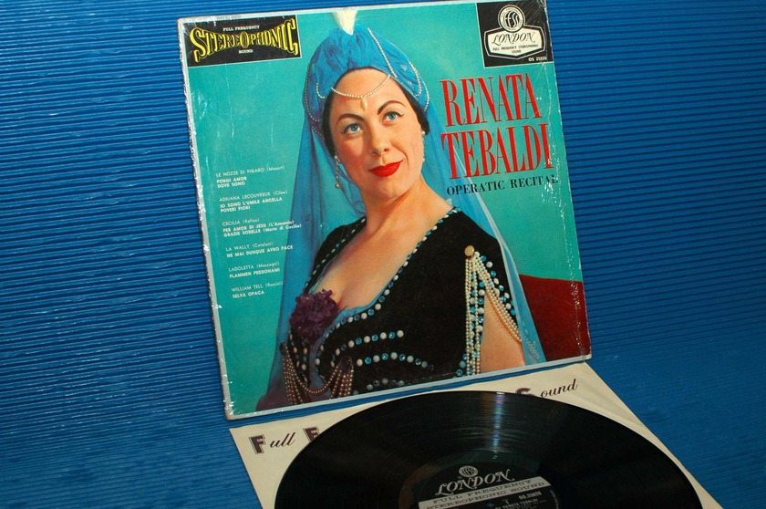 "RENATA TEBALDI   - ""Operatic Recital"" - London 'Blue Back' 1959 early press"
