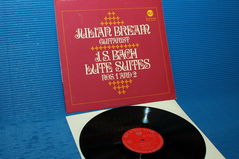 "JS BACH / Julian Bream   - "" Lute Suites 1 & 2"" -  RCA Germany/Teldec 1966"