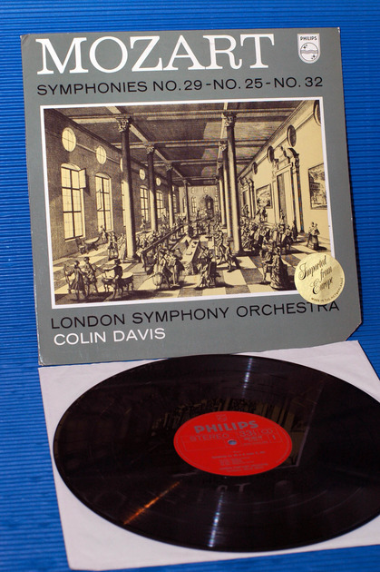 "MOZART / Davis  - ""Symphonies No.25, 29, 32"" -  Philips 197? import"