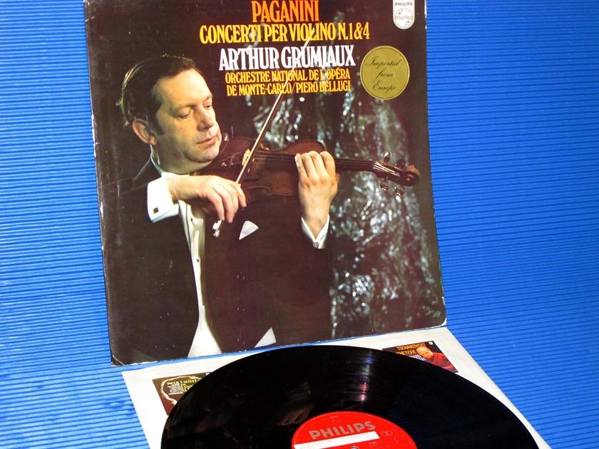 """PAGANINI / Grumiaux   - """"Violin Concerti No.1&4"""" -  Philips Import 'Promo' 1972."""