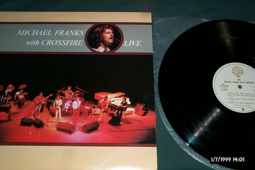Michael Franks -  With Crossroad Live Warner Japan Only LP