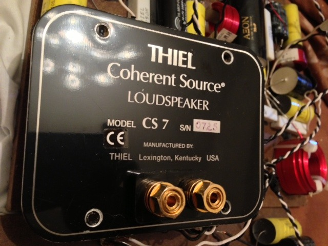 Thiel CS7 Full set 4-way drivers & cross overs Rare to come by