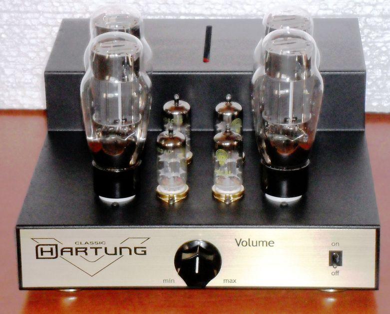 Hartung OTL 2 x 8 Watt amplifier Output Transformerless Amplifier Stereo