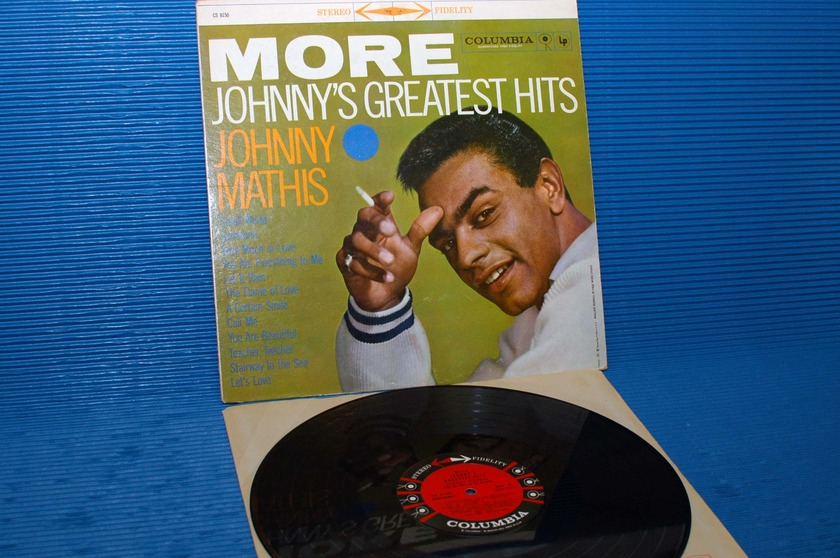 "JOHNNY MATHIS   - ""More Johnny's Greatest Hits"" - Colombia '6 Eye' 1959 Stereo"