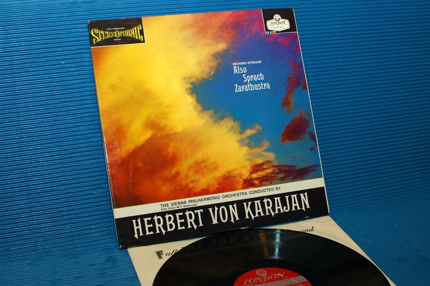 "STRAUSS / Von Karajan - - ""Also Sprach Zarathustra"" - London 'Blue Back' 1959 early pressing"