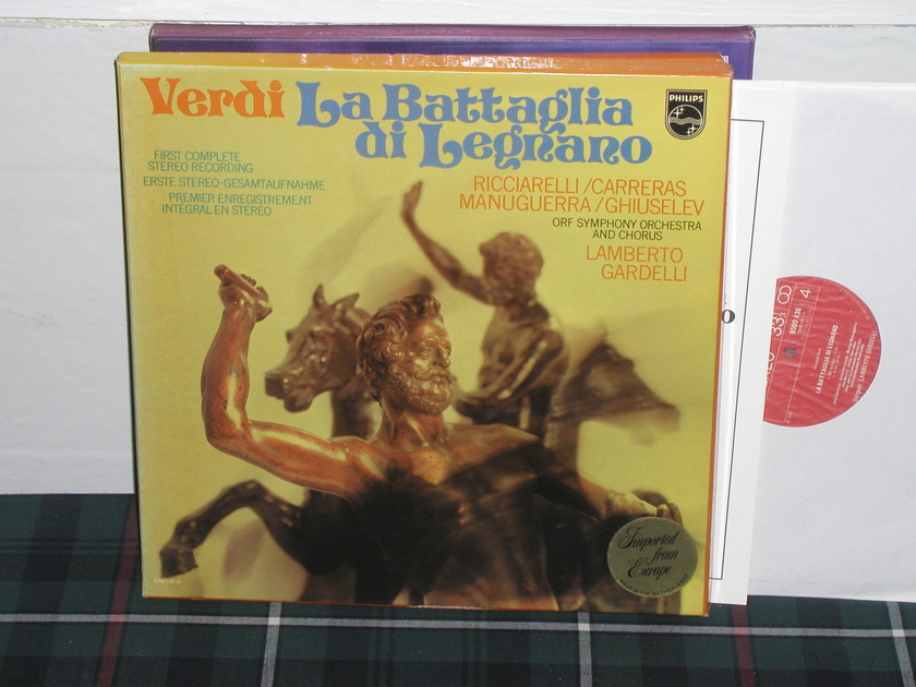 Gardelli/OSOC - Verdi/La Battaglia Philips Import 2lp box 6500