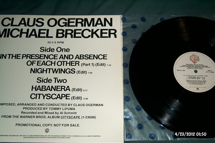 Michael Brecker/Claus Ogerman - Cityscape 12 inch Promo EP with Edits NM