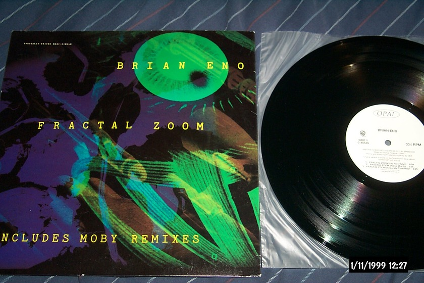 Brian Eno - Fractal Zoom  12 Inch EP Opal Label NM
