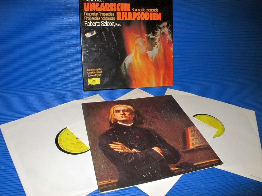 "LISZT / Szidon  - ""Hungarian ""Rhapsodies - Complete Edition"" -  DG 1973 'Single Tulip' Promo Set"