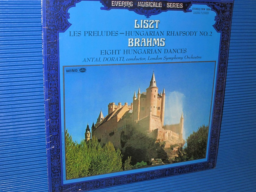 "LISZT / BRAHMS / Dorati  - ""Les Preludes & Hungarian Rhapsody #2   / 8 Hungarian Dances"" - Mercury Wing 1968 SEALED"