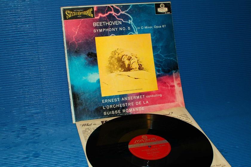 "BEETHOVEN / Ansermet  - ""5th Symphony"" -  London 'Blue Back'  1958 1st pressing"