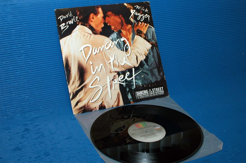 "DAVID BOWIE / MICK JAGGER  - ""Dancing in the Street"" - EMI 1985 45 rpm LP"