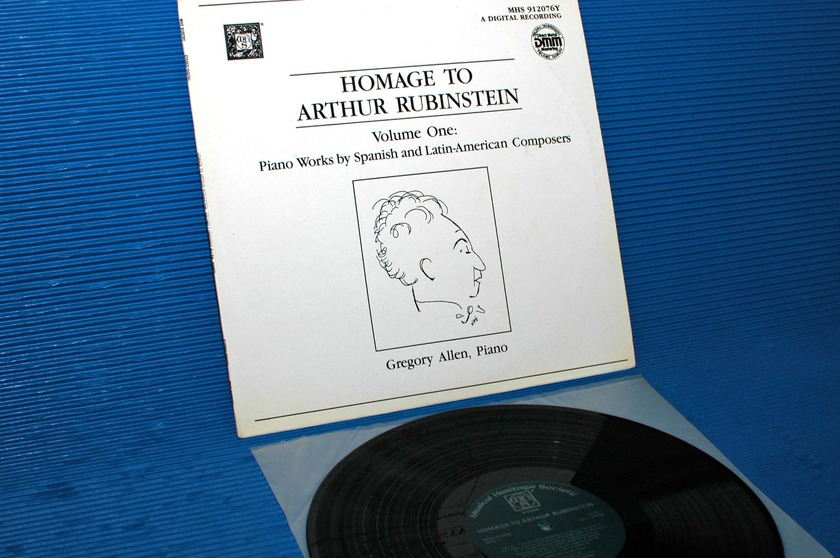 "VARIOUS / Allen   - ""Homage to Artur Rubinstein"" -  Musical Heritage Society DMM"