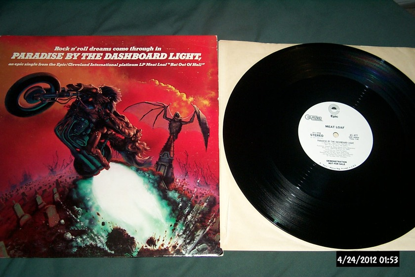 Meatloaf - Paradise By The Dashboard Lights Promo Only 12 Inch NM