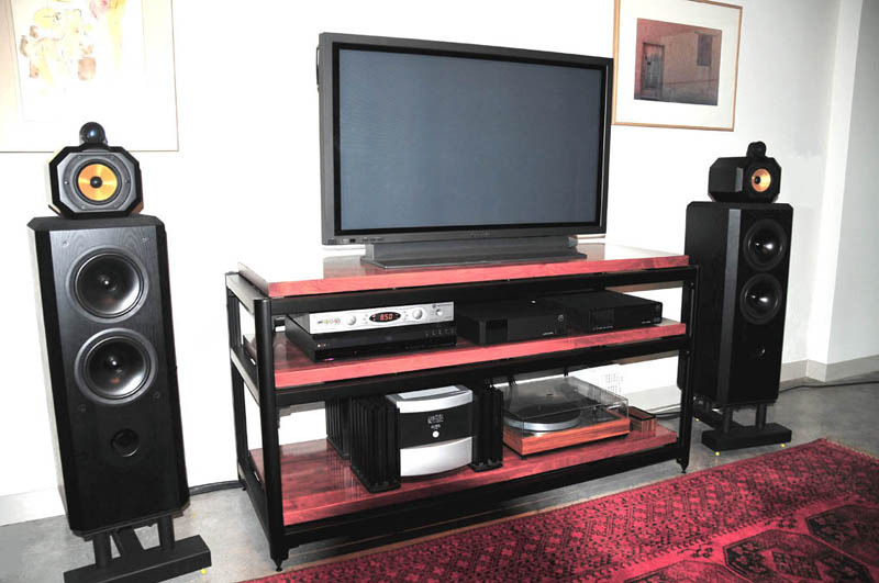 Steve Blinn Designs Gorgeous 3 shelf Super-Wide  Audio Rack,