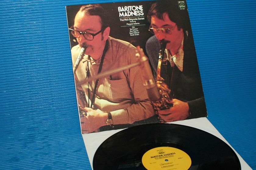 "THE NICK BRIGNOLA SEXTET  - ""Baritone Madness"" -  Bee Hive 1978 1st pressing"