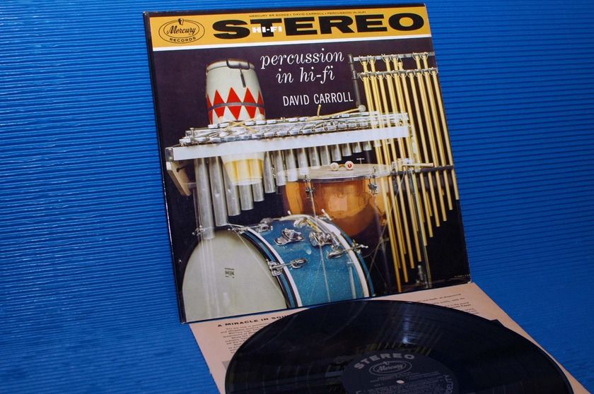 "DAVID CARROLL  - ""Percussion in Hi-Fi"" -  Mercury 1959 1st pressing"