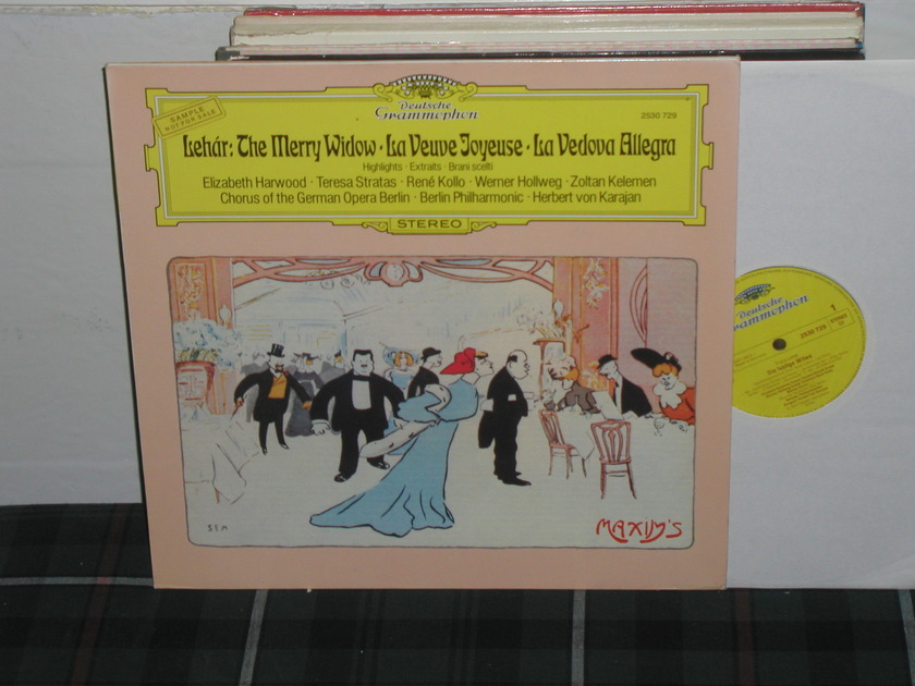 Von Karajan/BPO - Lehar:The Merry Widow DG German Import LP
