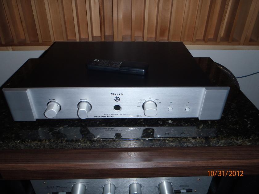Marsh Sound Design MSD-p2000b preamplifier w/remote-pics