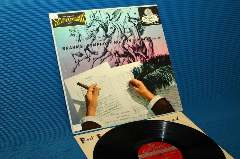 "BRAHMS / Kubelik   - ""Symphony #3"" - London 'Blue Back' 1958 early pressing"