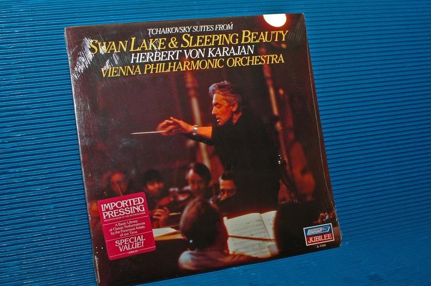 "TCHAIKOVSKY / Von Karajan  - ""Swan Lake & Sleeping Beauty"" -  London 1981 SEALED"