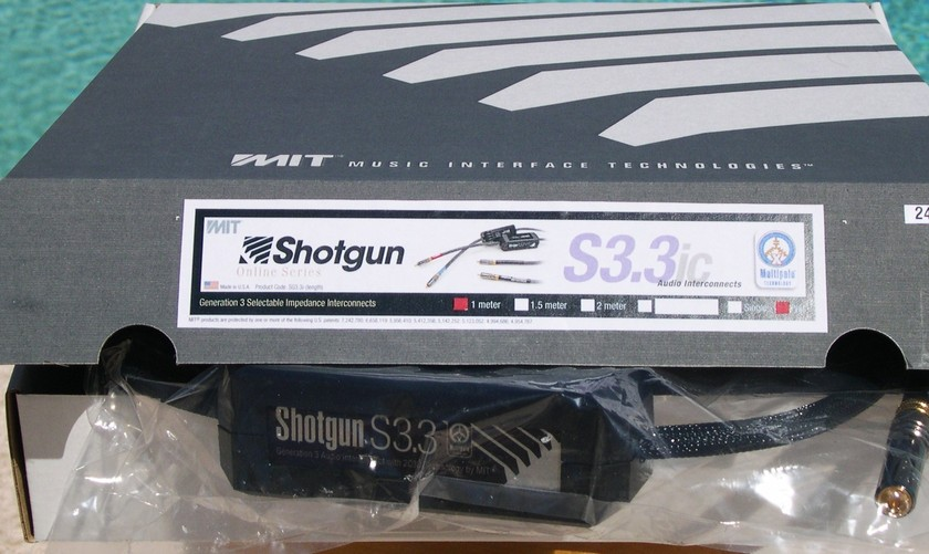 MIT Shotgun S3.3 rca 1M pair; 2C3D. New-in-Box.  CALL FOR BEST PRICE.  Lifetime Wrnty