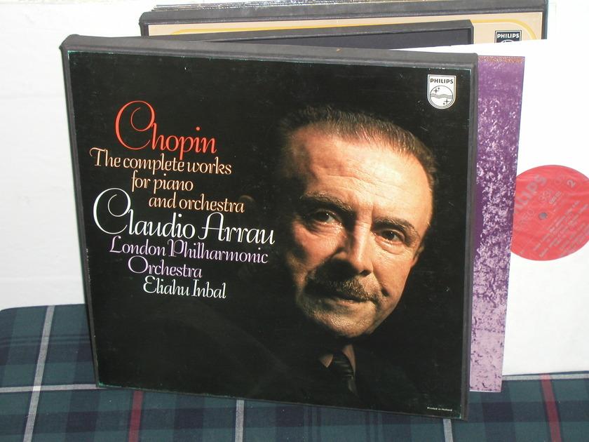 Arrau/Inbal/LPO - Chopin Samtliche Works for Pno Philips Import 3LP  6747