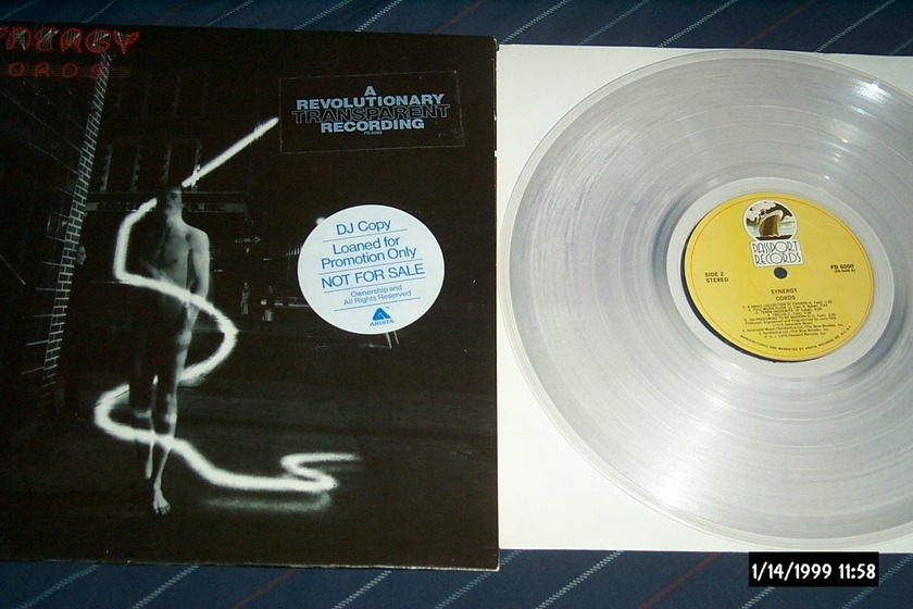Synergy - Cords Clear Vinyl Promo LP NM