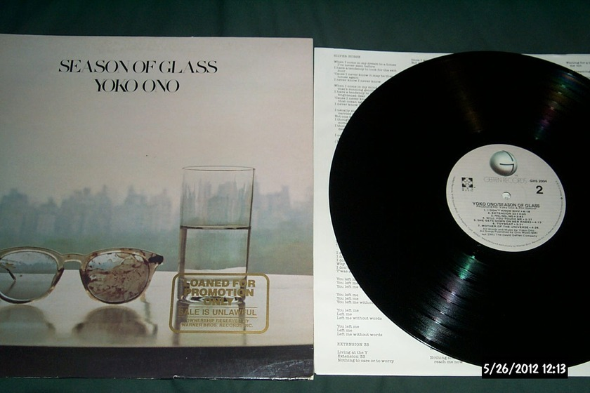 Yoko Ono - Season Of Glass LP NM Quiex II Colored Vinyl Promo Pressing