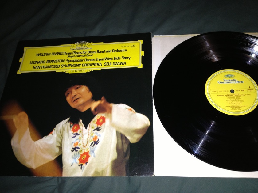 Seiji Ozawa - Three Pieces For Blues Band DGG Label Lp NM