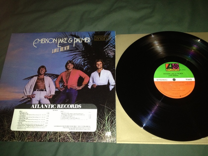 ELP - Love Beach Promo LP NM Atlantic Records