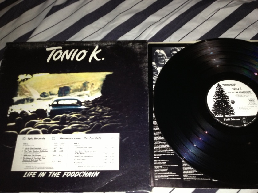 Tonio K. - Life In The Foodchain White Label Promo  LP NM