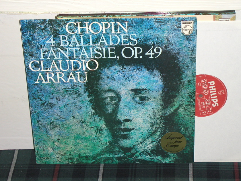 Claudio Arrau - Chopin 4 Ballades Philips Import pressing 9500 393 DELUXE.