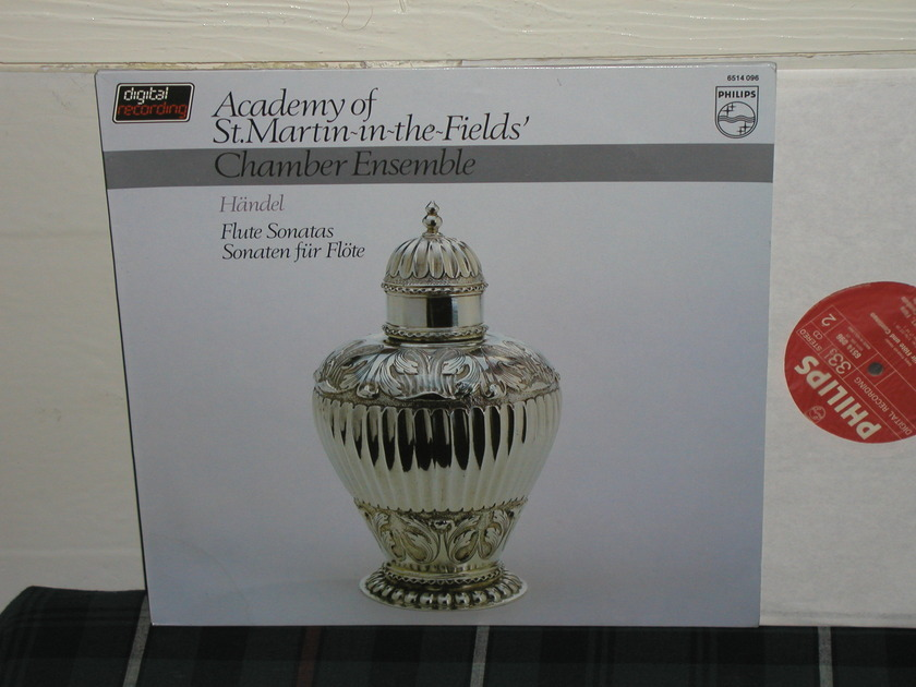 AoStMitF Chamber Ensemble  -  Handel Flute Sonatas  Philips Import pressing 6514 096.