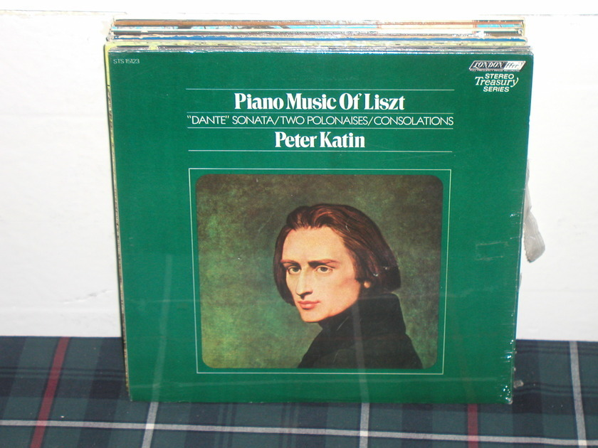 Peter Katin  - Piano Music of Liszt  London FFRR UK Decca STS 15123 7W/4W matrix.