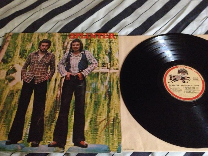 Splinter - The Place I Love Dark Horse Label LP NM