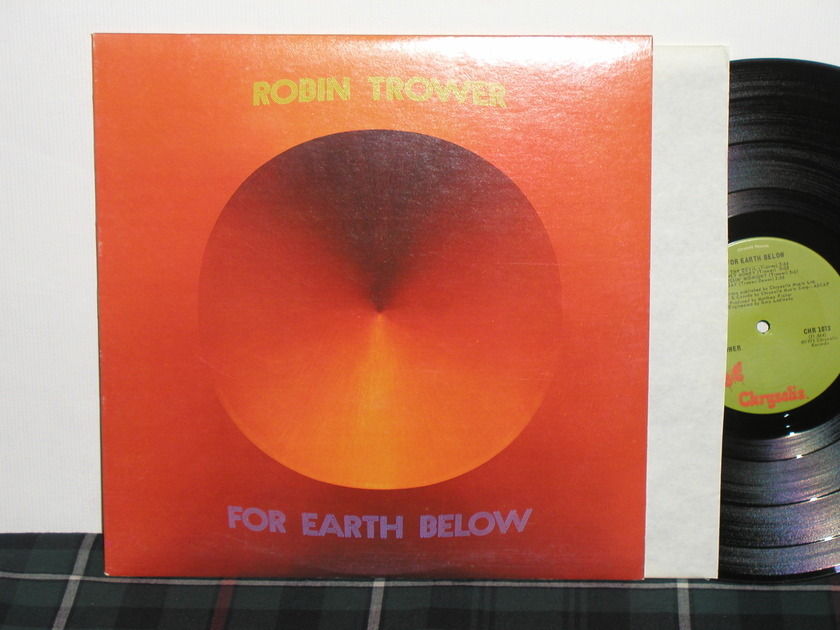Robin Trower - For Earth Below Chrysalis CHR-1073