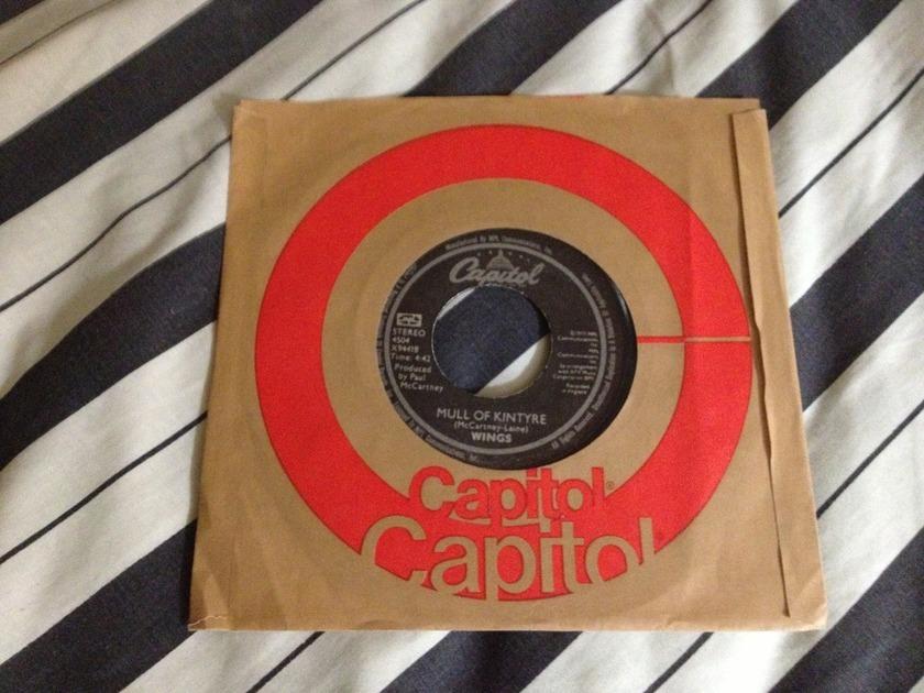 Wings - Mull Of Kintyre/Girls School 45 NM Black Capitol Label