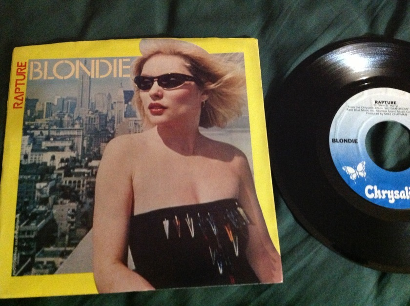 Blondie - 45 With Sleeve Rapture Chrysalis Label