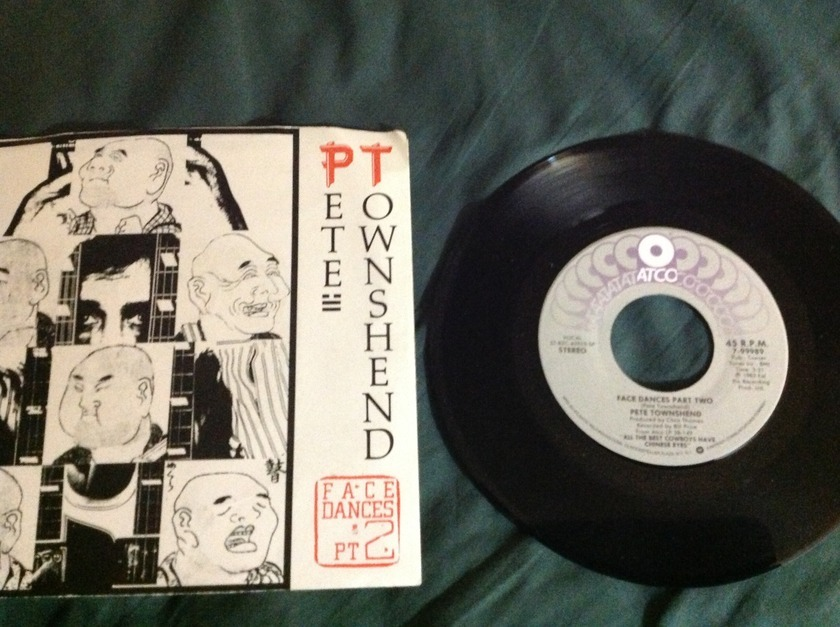 Pete Townshend - Face Dances Pt 2 45 With Sleeve