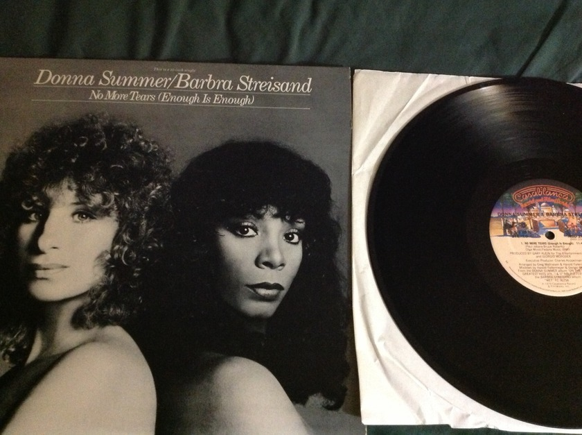 Donna Summer/Streisand - No More Tears Casablanca  Label 12 Inch One Sided Single