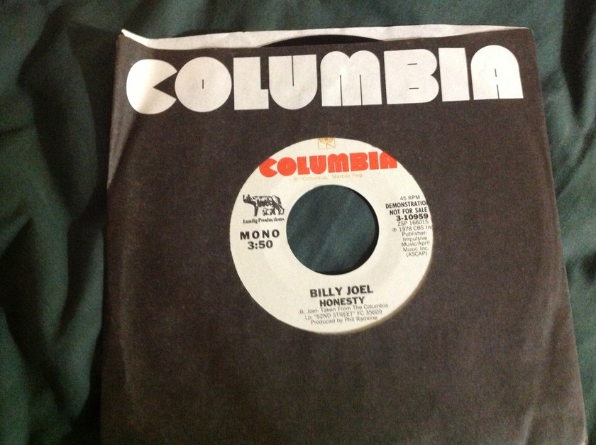 Billy Joel - Honesty Mono/Stereo Promo 45