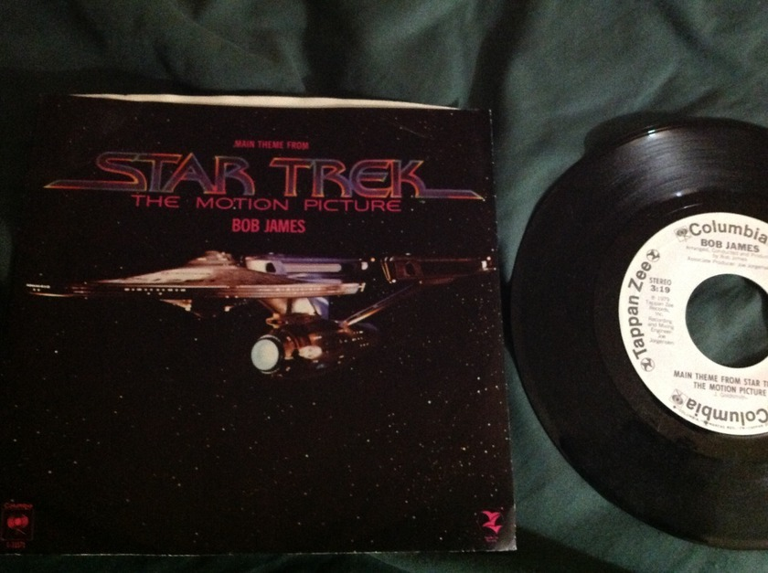 Bob James - Main Theme From Star Trek White Label Promo 45 With Sleeve