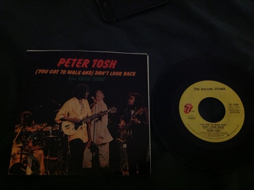 Peter Tosh - Don't Look Back 45 With Sleeve Mick Jagger