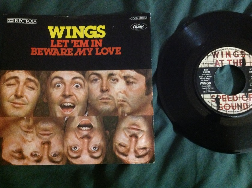 Wings - Let 'Em In EMI Germany 45 With Sleeve NM