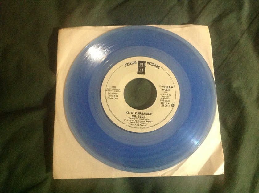 Keith Carradine - Blue Vinyl Promo 45 Mr. Blue NM